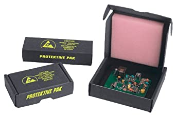 "Protektive Pak 37004 Small Component Shipper, 3-3/4"" Length x 3-3/4"" Width x 1"" Depth (Case of 92)"