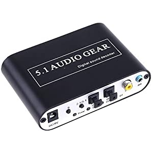 Happy Hourså¨ Optical SPDIF/ Coaxial Stereo (L/R) Dolby AC3 DTS PCM Digital to 5.1 CH Analog Audio Decoder For