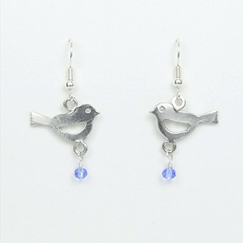 Blue Bird of Happiness Earrings - May the Bluebird of Happiness Always Fly With You - Made in USA