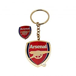 Arsenal F.C. Keyring & Badge Set