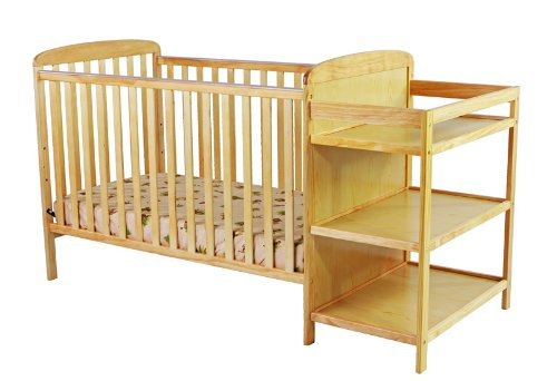 Dream On Me 2 In 1 Full Size Crib And Changing Table Combo, Natural