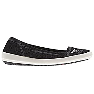 Adidas Women's Boat Slip-On Sleek Water Shoes - Black/ Chalk/ Dark Shale 7