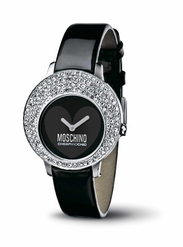 Moschino - MW0047 - Montre Femme - Quartz - Analogique - Bracelet Cuir Noir