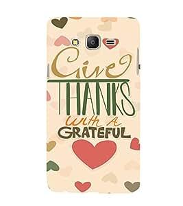 EPICCASE Hearty thanks Mobile Back Case Cover For Samsung Galaxy E7 (Designer Case)