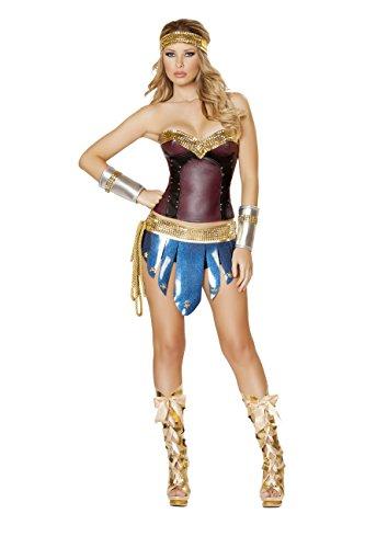 Sexy Women's 4pc She-Ra Warrior Woman Costume (S) (Shera Costumes)