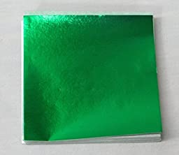 6 X 6 in. Green Foil Candy Wrappers by Unknown