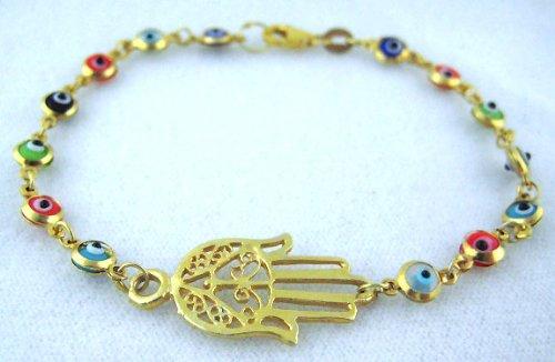 Hamsa Protection Hand and Evil Eye Bracelet