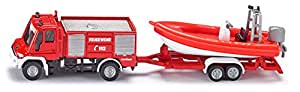 Amazon.com: WOW Unimog Fire Engine w/ boat: Toys & Games