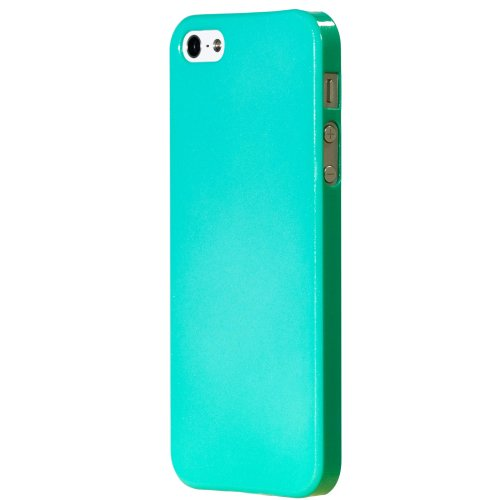 Marietta Slim Hard Shell Case for iPhone 5 - Aqua Teal Metallic Clear Coat