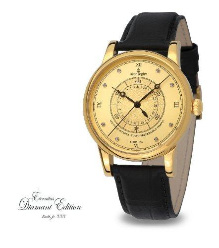 Kronsegler Eternitas Diamond Men's Watch Diamond gold-gold