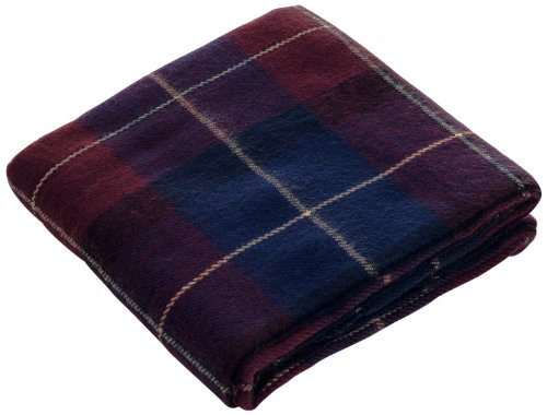 Lavish Home Throw Blanket, Cashmere-Like, Blue/Red front-471587