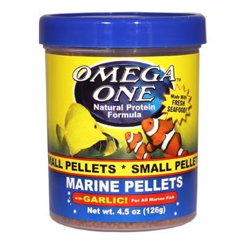 Omega One Garlic Marine Small Sinking Pellets, 4.5 Oz.