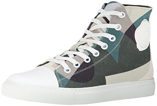 VIKTOR & ROLF Men's Camo Canvas High Top Fashion Sneaker, Camouflage, 40 EU/7 M US