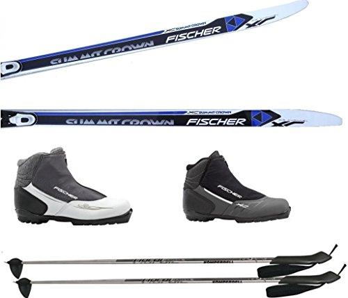 LANGLAUFSKI SET FISCHER SUMMIT 172 + Bindung + XC Pro Schuhe (172 Zentimeter, 41 Damen) + Stöcke 135