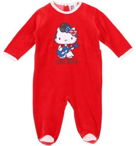 4b12749a67894 Pyjama bébé fille  collection Elvis  Hello kitty rouge 12mois - Avis ...