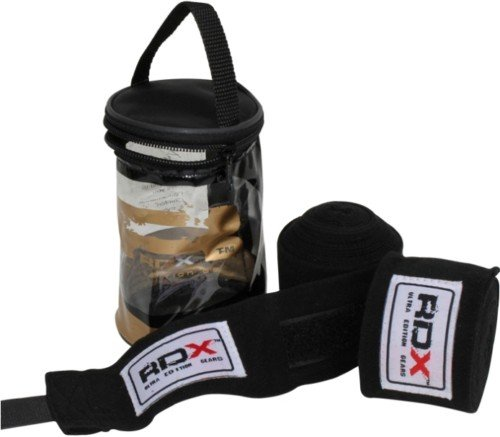 Auth RDX Pro Hand Wraps Bandages, Boxing Gloves MMA UFC, Black Wraps