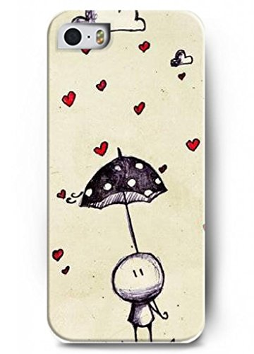 Ouo Stylish Series Case For Iphone 5 5S 5G With The Design Of Heart Shaped Rain