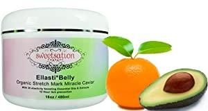 Organic Ellasti*Belly Stretch Mark Miracle Caviar, 16oz Jumbo by Sweetsation Therapy
