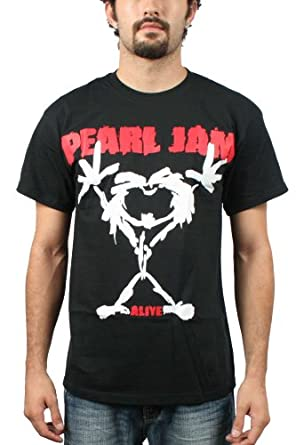 Pearl Jam - Stickman Erwachsene T-Shirt in Schwarz, Small, Black