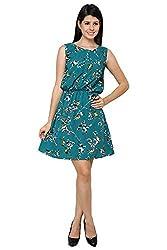 Bird print Dress(Green,S)