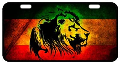 "Jamaican Flag Novelty License Plate Decorative Front Plate 6.1"" X 11.8"""