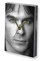 IAN SOMERHALDER - Canvas Clock (LARGE A3 - Signed by the Artist) #js003