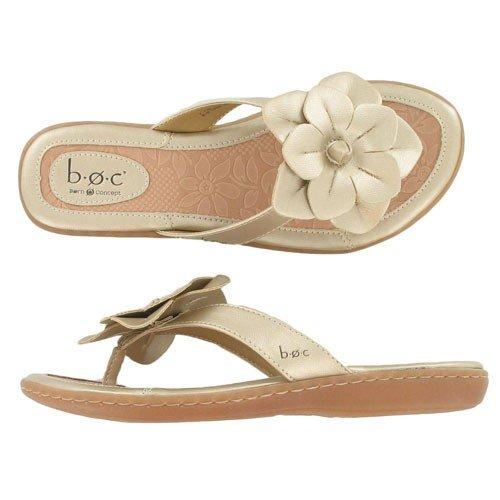 Women's BOC by Born, Amaris floral thong Sandal CHAMPAGNE 8 M