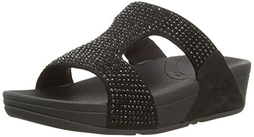 FitFlop Women's Rokkit Slide Dress Sandal, Black Diamond, 8 M US (Fitflop compare prices)