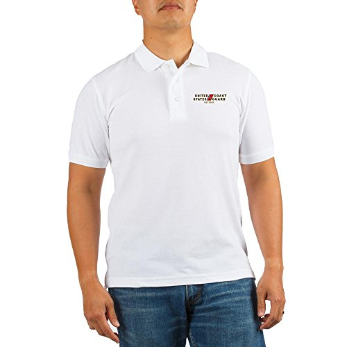 CafePress USCG Retired Golf Shirt - L White