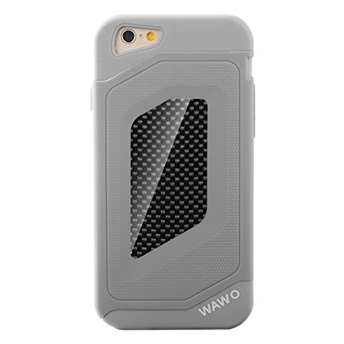 Iphone 6 Case - Wawo Full Protection Carbon Fiber Patch Case For Apple Iphone 6 4.7 Inch (Grey)