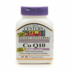 21st Century Co Q10 200mg, Maximum Strength 45 capsules dong quai 530 mg traditional herb for women 100 capsules free shipping