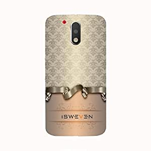 iSweven g4p06 Luxurious Printed high Quality Vintage Ribon Back case cover for Motorola Moto G4 Plus