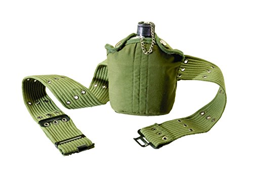 Texsport 1 Quart Aluminum Canteen with Cover and Belt (Scout Belt compare prices)