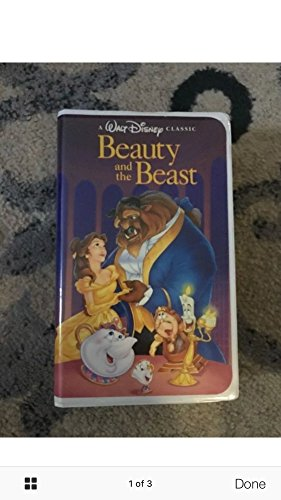 Walt Disney`s Beauty And The Beast RARE Black Diamond Classic (VHS Tape)