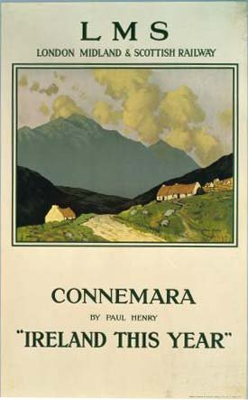 Irish Travel Poster art Print, Connemara Ireland by Paul Henry