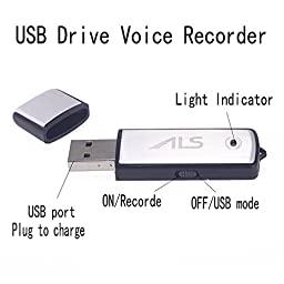 Digital Voice Recorder 8GB USB Drive Multifunctional Rechargeable Mini Audio Recording Device with MP3 Player Activated Mp3 player Dictaphone voice recorder car Long Time Voice Recording