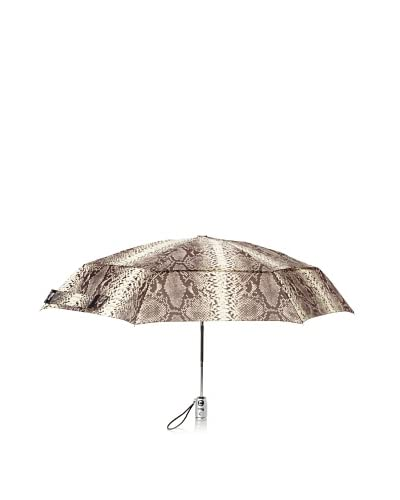London Fog Women's Windguard Umbrella with LED Light, Snake As You See