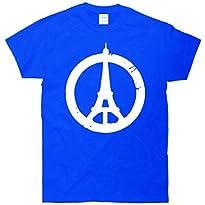 Support Paris Peace Sign Eiffel Tower T-Shirt