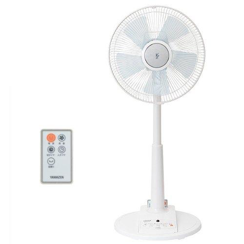 山善(YAMAZEN) (DCモーター搭載)30cmリビング扇風機(静音モード搭載)(リモコン)(風量4段階)入切タイマー付 ホワイト YLX-LD30(W)