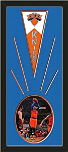 New York Knicks Wool Felt Mini Pennant & Carmelo Anthony Action Photo - Framed... by Art and More, Davenport, IA