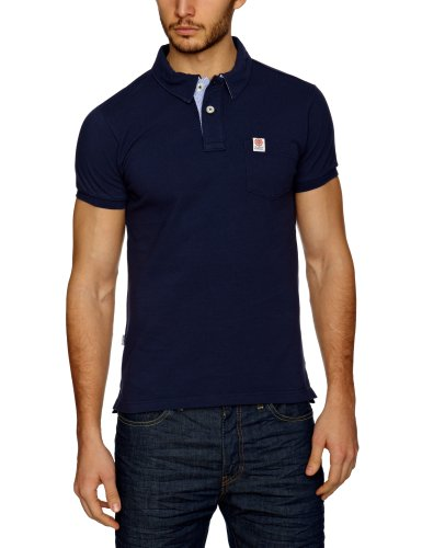 Franklin & Marshall POMR721S13 Polo Shirt Men's T-Shirt Diamond Blue Large