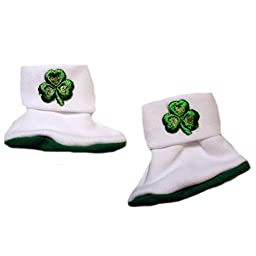 Jacqui\'s Unisex Baby Luck of the Irish Booties, 0-3 Months
