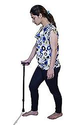 JSB W09 Orthopedic Walking Stick Height Adjustable Non Slip base (Black)