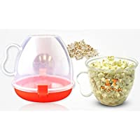 Pop Corn Microwave Popcorn Maker Container Box(Red)