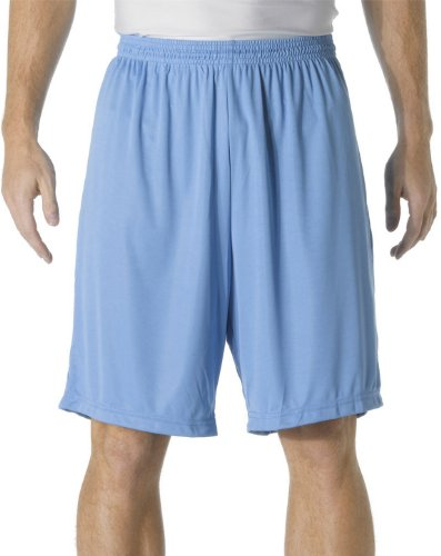 "A4 9"" Cooling Performance Shorts, Light Blue, X-Large"