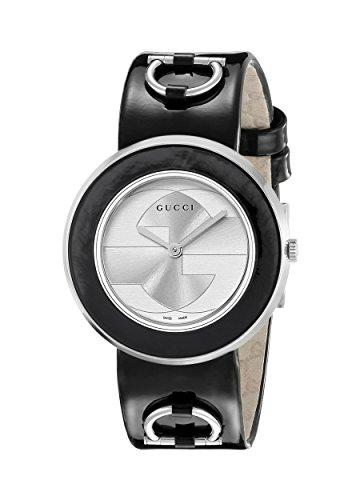 Gucci YA129401 - Orologio da polso donna, pelle, colore: nero