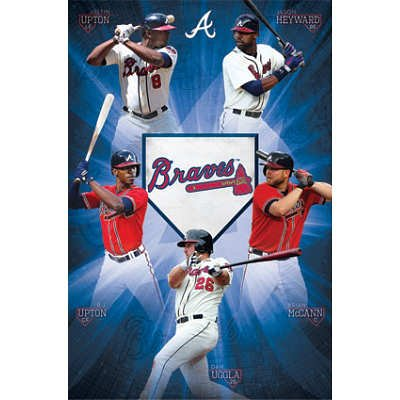 (22x34) Atlanta Braves Team Baseball Poster at Amazon.com