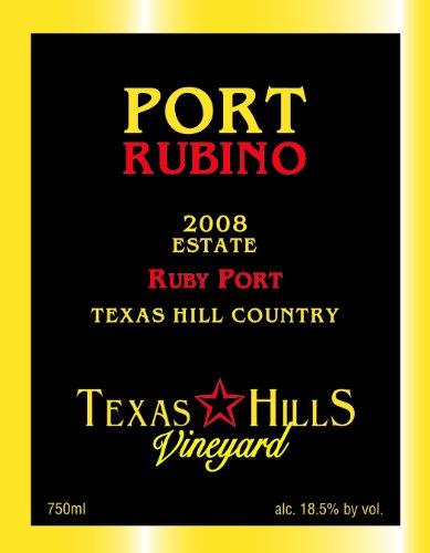 2008 Texas Hills Vineyard Port Rubino 750 Ml