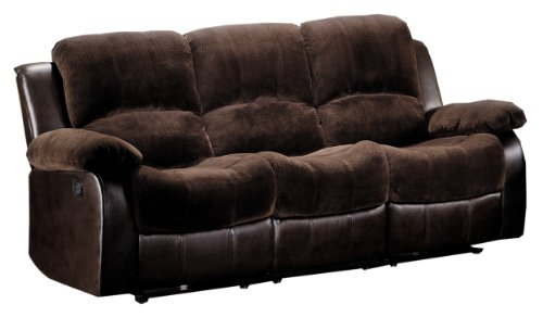 Swell Sale Homelegance 9700Fcp 3 Double Reclining Sofa Brown Plush Bralicious Painted Fabric Chair Ideas Braliciousco