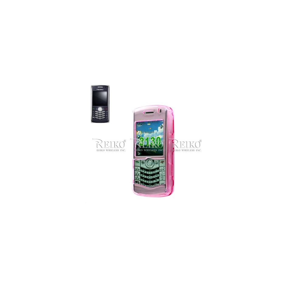 New Fashionable CLEAR Protector Cover Blackberry 8130 PINK